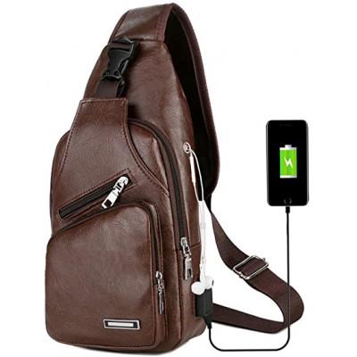 Sac à bandoulière pour hommes avec port de chargement USB
