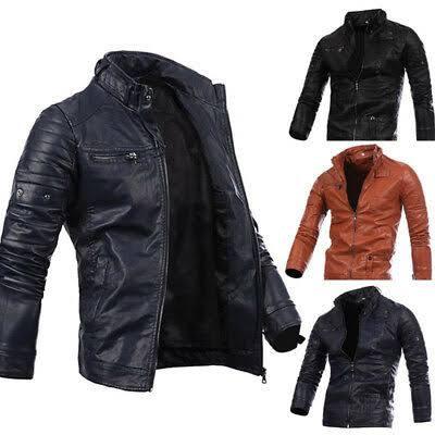 Veste en cuir de moto pour hommes  5XL
