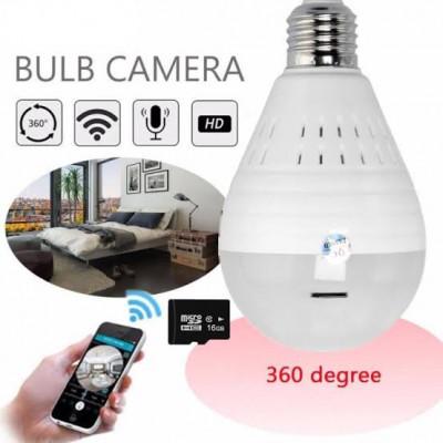 Ampoule sans fil caméra IP caméra panoramique