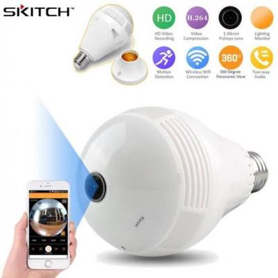 Ampoule panoramique caméra IP intérieure Wifi caméra de sécurité audio bidirectionnelle Wifi