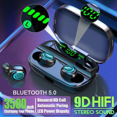 Hembeer Bluetooth casque sans fil avec Microphone 3500mah étanche écouteurs HIFI stéréo anti-bruit casque écouteurs